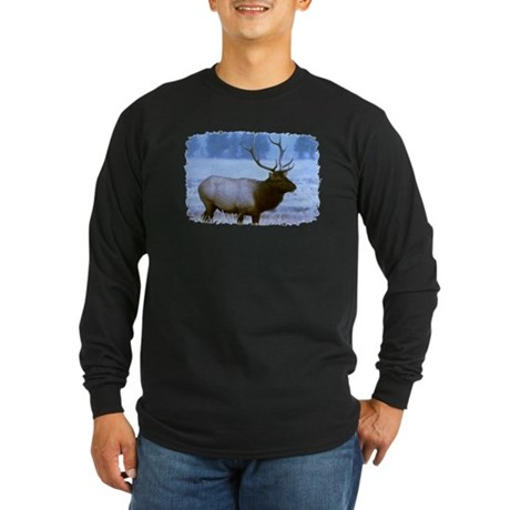 Bull Elk Long Sleeve Dark T-Shirt