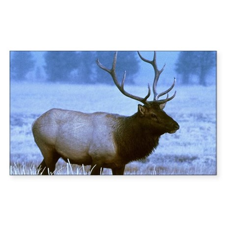 Bull Elk Rectangle Sticker