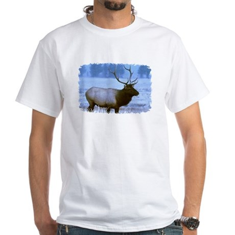 Bull Elk White T-Shirt