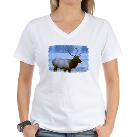Bull Elk Women's V-Neck T-Shirt