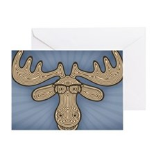 moose-nerd-STKR Greeting Card