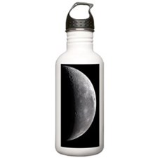 Waning crescent Moon Water Bottle
