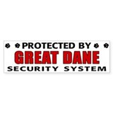Great Dane Security Bumper Car Sticker