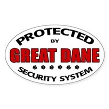 Great Dane Security Oval Decal