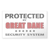Great Dane Security Rectangle Decal