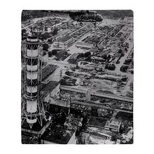 Aerial view of Chernobyl soon after  Throw Blanket