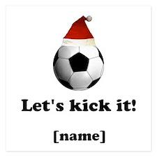 Personalized Lets kick it! - Xmas Invitations