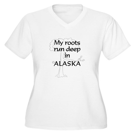 Alaska Roots Women's Plus Size V-Neck T-Shirt