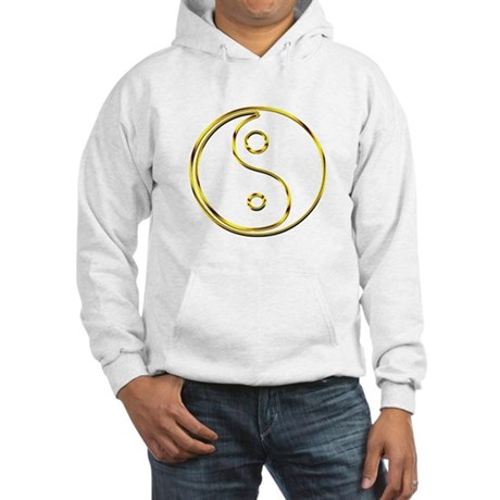 Gold Yin and Yang Hooded Sweatshirt