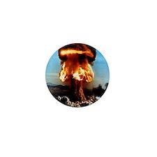 Atomic bomb explosion Mini Button