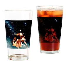 Artwork of Apollo 11 lunar module o Drinking Glass