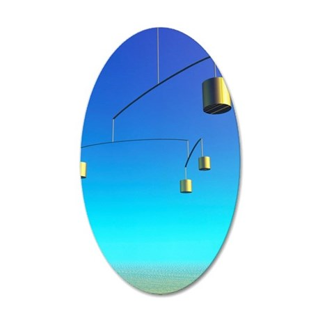 Computer artwork of a mobile 35x21 Oval Wall Decal