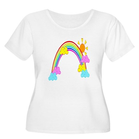 Rainbow Women's Plus Size Scoop Neck T-Shirt