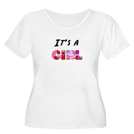 It's a GIRL Women's Plus Size Scoop Neck T-Shirt
