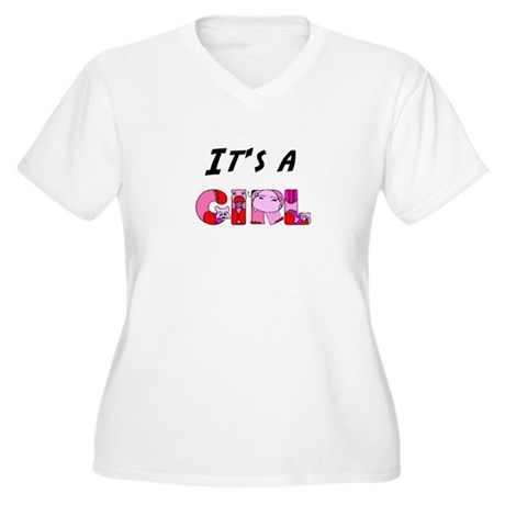 It's a GIRL Women's Plus Size V-Neck T-Shirt
