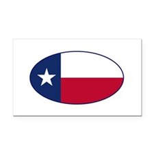 Texas Flag - TX Rectangle Car Magnet