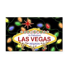 Las Vegas Christmas Lights Rectangle Car Magnet