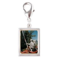 Decontamination in Chernobyl Silver Portrait Charm