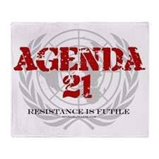 Agenda 21 color Throw Blanket