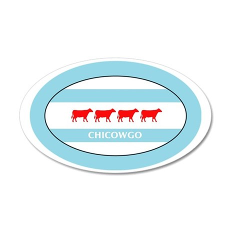 Chicowgo - Chicago 35x21 Oval Wall Decal