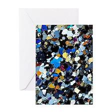 Granulite mineral, light micrograph Greeting Card