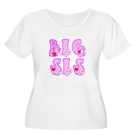 Big Sis Women's Plus Size Scoop Neck T-Shirt