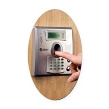 Fingerprint scanner Oval Car Magnet