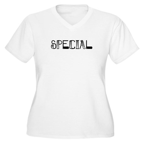 Special Women's Plus Size V-Neck T-Shirt
