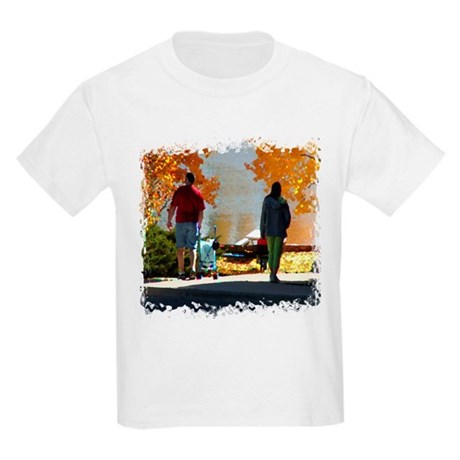 Early Autumn Stroll Kids Light T-Shirt