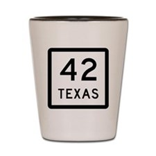 Texas 42 Shot Glass