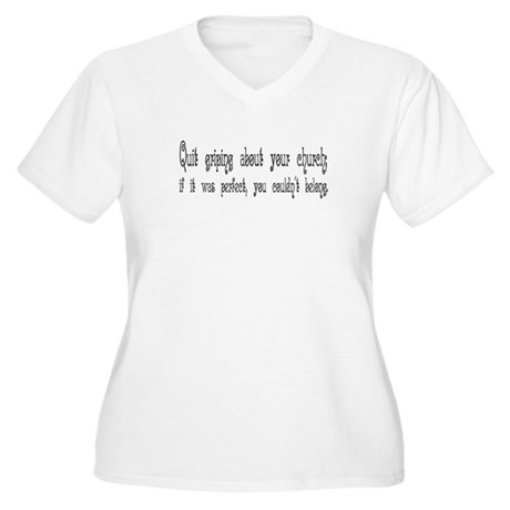 Perfect Church Women's Plus Size V-Neck T-Shirt