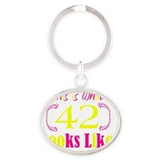 42 Oval Keychain