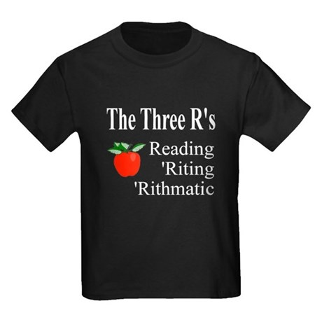 The Three R's Kids Dark T-Shirt
