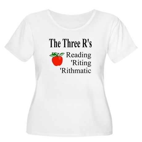 The Three R's Women's Plus Size Scoop Neck T-Shirt