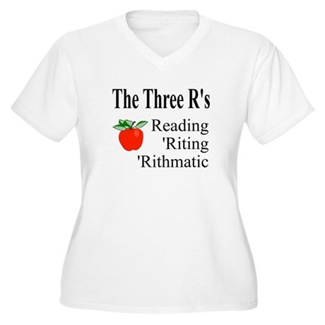 The Three R's Women's Plus Size V-Neck T-Shirt