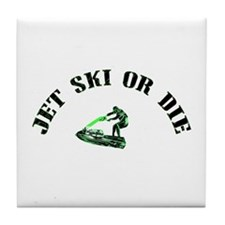 Jet Ski or Die Vintage Tile Coaster