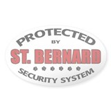 St Bernard Security Oval Decal