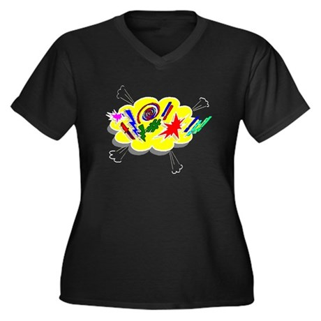 Expletive! Women's Plus Size V-Neck Dark T-Shirt