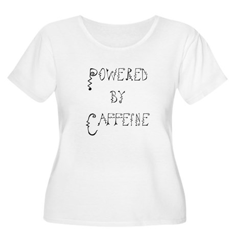Powered by Caffeine Women's Plus Size Scoop Neck T