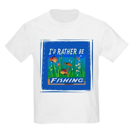 Rather be Fishing Kids Light T-Shirt