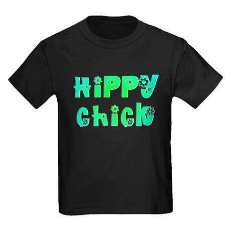 Hippy Chick Kids Dark T-Shirt