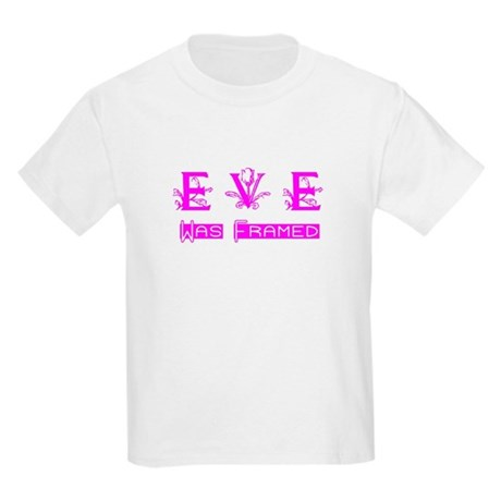Eve was Framed Kids Light T-Shirt