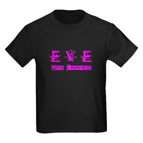 Eve was Framed Kids Dark T-Shirt