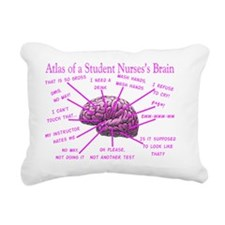 atlas student nurse brai Rectangular Canvas Pillow
