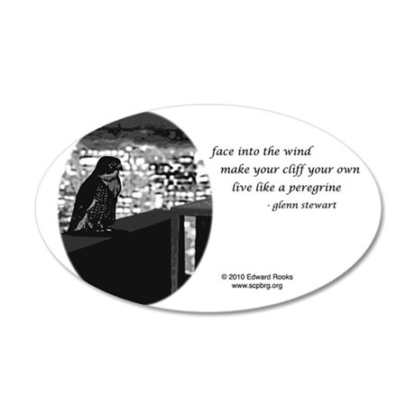 Clara Sentinel, black and wh 35x21 Oval Wall Decal