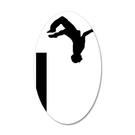 Parkour-AA 35x21 Oval Wall Decal