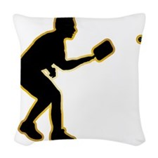 Pickleball-AD Woven Throw Pillow