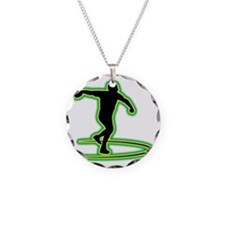 Discus-Throwing-AC Necklace Circle Charm