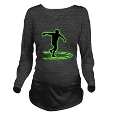 Discus-Throwing-AC Long Sleeve Maternity T-Shirt