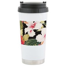 Black Retro Hawaii Hibi Travel Mug